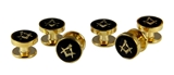 4031811 Mason Tuxedo Studs Masonic Freemason Set Tux Shhirt Square Compass