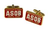 4031813 ASOB Cuff Links Association of Shrine Oriental Band Shriner Cufflinks
