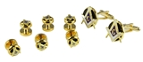 4031831 Mason Tuxedo Studs & Cufflink Set Masonic Cuff Links Freemason Scottish Rite
