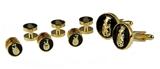 4031834 ROJ Tuxedo Stud Cufflink Set Jester Biliken Royal Order Jesters Shirt Billiken