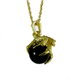 4031840 AEAONMS Masonic Black Stone Necklace Freemason Mecca Prince Hall Mason Shriner Claw