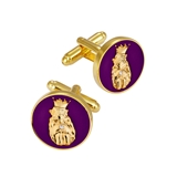 4031847 Pair Roj Cuff Links Royal Order Jesters Jester Biliken Mirth is King