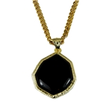 4031853 AEAONMS Masonic Black Stone Necklace Prince Hall Mecca Camel Mason Shriner