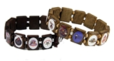 4031858 Shrine Wood Stretch Bracelet Shriner Clown Hospital OES Football Silent Messenger