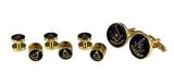 4031864 Past Master Tuxedo Studs Cuff Link Set Shirt Mason Worshipful Masonry