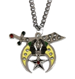 4031865 Shrine Necklace Pendant Shriner Scimitar Crescent Moon Star Prince Hall