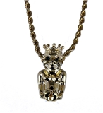 4031867 ROJ Biliken Necklace Royal Order of Jesters Billiken Pendant Front Facing Jester Shriner Mirth is King