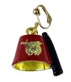 4031878 Single Shrine Clip On Earring Fez Shriner Unisex Jewelry Fezz