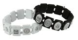 4031881 Set of 2 Freemason Wooden Stretch Bracelet Mason Square & Compass Masonic Blue Lodge Master Mason
