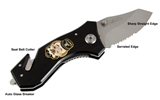 4031887 Shrine Clown Auto Emergency Knife Glass Breaker Seat Belt Strap Cutter Shriner Hospital Clowns Unit