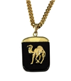 4031894 AEAONMS Masonic Black Stone Necklace Prince Hall Mecca Camel Mason Egypt Egyptian