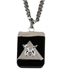 4031901 AEAONMS Masonic Black Stone Necklace Prince Hall Mecca Camel Mason Egypt Egyptian Pyramid