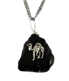 4031903 AEAONMS Masonic Black Stone Necklace Prince Hall Mecca Camel Mason Egypt Egyptian
