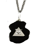 4031905 AEAONMS Masonic Black Stone Necklace Prince Hall Mecca Mason Egypt Egyptian Pyramid