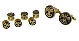 4031910 Scottish Rite Cuff Links & Tuxedo Studs 32nd Degree Wings Up Northern District Cufflinks 32 Freemason Masonic Freemasonry Shirt Studs