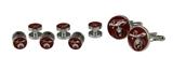4031919 Set of 6 Shriner Tuxedo Studs & Pair Cuff Links Red Shirt Studs Shrine Noble Scimitar Moon Star Formal Wear Cufflinks