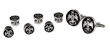 4031927 Scottish Rite 33 Degree Cuff Links Tuxedo Studs 33rd Degree Consistory Wings Up Supreme Council Jurisdiction