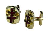 4031946 Scottish Rite Inspector General Honorary 33rd Degree Double Cross Cuff Links Cufflinks Red Crosses Thirty Third 33 Three