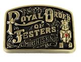 4031950 Royal Order of Jesters Belt Buckle Billiken ROJ Jester Mirth is King Biliken Court Book of Plays