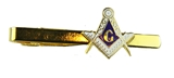 6030024 Mason Tie Clip Masonic Tie Bar Clasp Square and Compass Blue Lodge