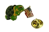 6030056 Are You A Turtle Lapel Pin AYAT YBYSAIA Turtle Association American Flag Shrine