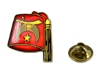 6030629 Shriner Fez Lapel Pin Oriental Band Shrine Brooch Fezz Hat