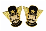 6030634 Set of 2 Shriner Bobby Collar Tabs Policemen Shrine Tips