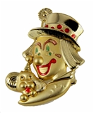 6030638 Clown Pin Lapel Brooch Shriner Circus Shrine Clown Unit Hospital