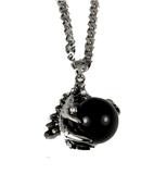 AEAONMS Masonic Black Stone Necklace Freemason Mecca Prince Hall Mason