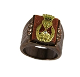 T18 Royal Order of Jesters Ring ROJ Jester Billiken Shriner Mens Bling
