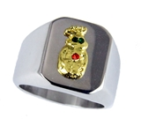 T20 Royal Order of Jesters Ring ROJ Jester Billiken Shriner Mens Bling