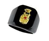 T21 Royal Order of Jesters Ring ROJ Jester Billiken Shriner Mens Bling