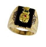 T22 Royal Order of Jesters Ring ROJ Jester Billiken Shriner Mens Bling
