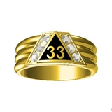 T24 Scottish Rite 33 Degree Stainless Steel Ring 33rd Thirty Third Freemason Mason