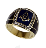 T38 Stainless Steel Masonic Ring Mason Square and Compass