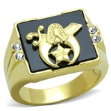 T40 Stainless Steel Shrine Ring Shriner Scimitar and Crescent Moon