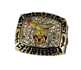 T62 Mens Championship AEAONMS Shriner Ring Superbowl Style Prince Hall Mason