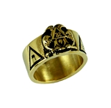 T67 Stainless Steel Scottish Rite Ring 14 & 32 Degree Mason 14th 32nd Masonic Jewelry Gift