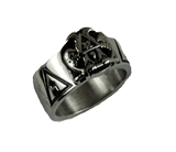 T68 Stainless Steel Scottish Rite Ring 14 & 32 Degree Mason 14th 32nd Masonic Jewelry Gift