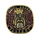 T74 Mens Roj Royal Order of Jesters Superbowl Ring Jester Biliken Mirth is King Jester Billiken