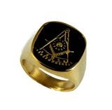 T81 Past Master Stainless Steel Ring Mason Freemason Masonic Square Compass Rocker Sun Prince Hall