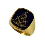 T82 Past Master Stainless Steel Ring Mason Freemason Masonic Square Compass Rocker Sun Prince Hall