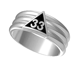 T85 Scottish Rite 33 Degree Stainless Steel Ring 33rd Thirty Third Freemason Mason