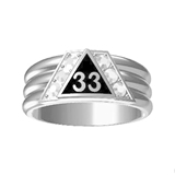 T86 Scottish Rite 33 Degree Stainless Steel Ring 33rd Thirty Third Freemason Mason