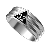 T89 Scottish Rite 32 Degree Stainless Steel Ring 32nd Thirty Second Freemason Mason