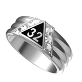 T90 Scottish Rite 32 Degree Stainless Steel Ring 32nd Thirty Second Freemason Mason