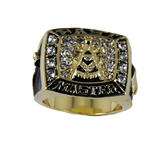 T93 Past Master Superbowl Ring Blue Lodge Masonic Super Bowl Championship Freemason Mason