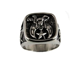 T99 Shriner Ring Stainless Steel Masonic Emblem Shrine Mason Freemason Freemasonry Jewelry